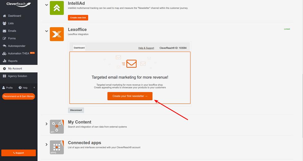 Lexoffice-CleverReach®-Erstes-Mailing-erstellen