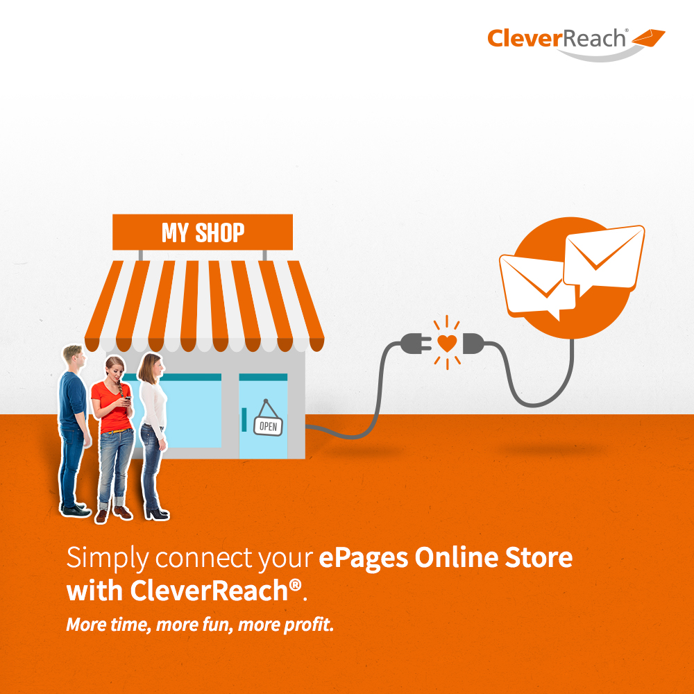 screenshot: connect epages and cleverreach® - simply connect your Oxid-Shop with CleverReach®