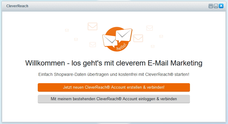 CleverReach® und Shopware Accounts verbinden