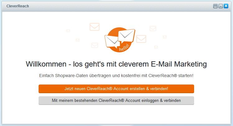 CleverReach® und Shopware Accounts verbinden