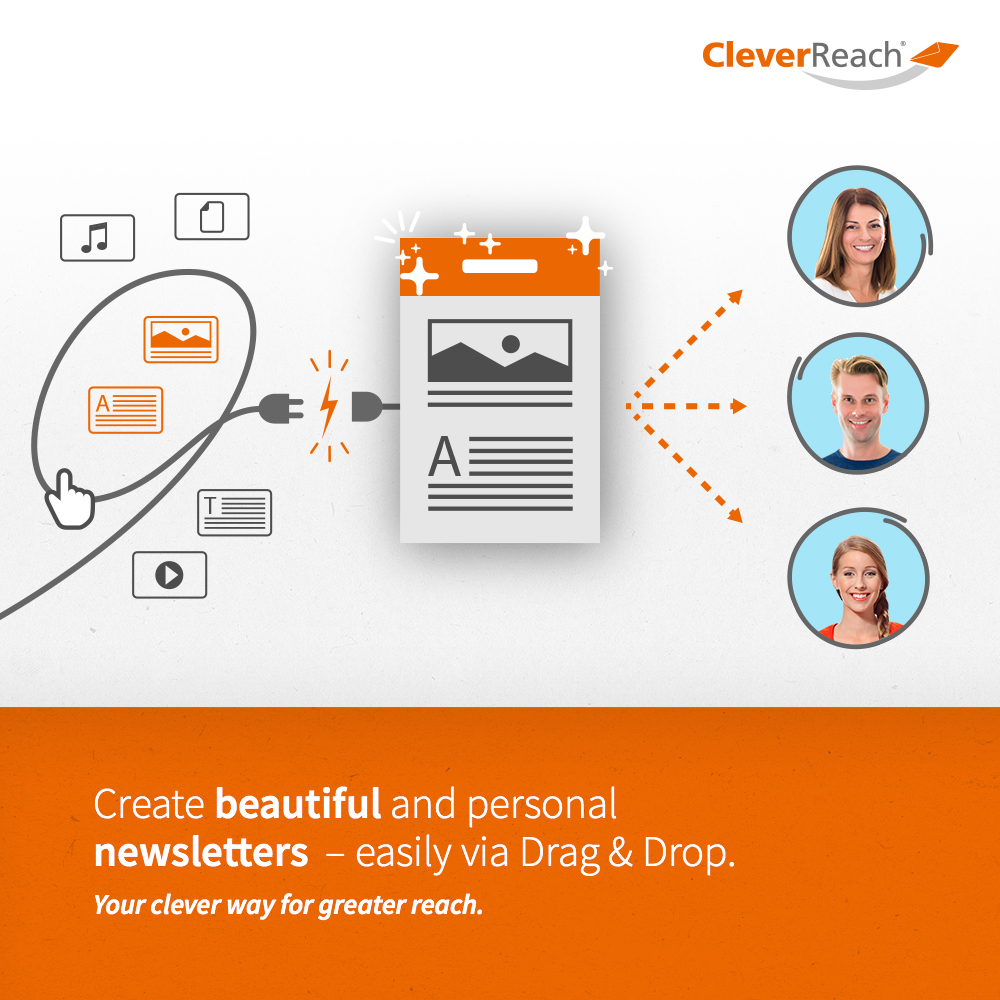 typo3 and cleverreach - create strong-selling newsletters - easily via drag and drop