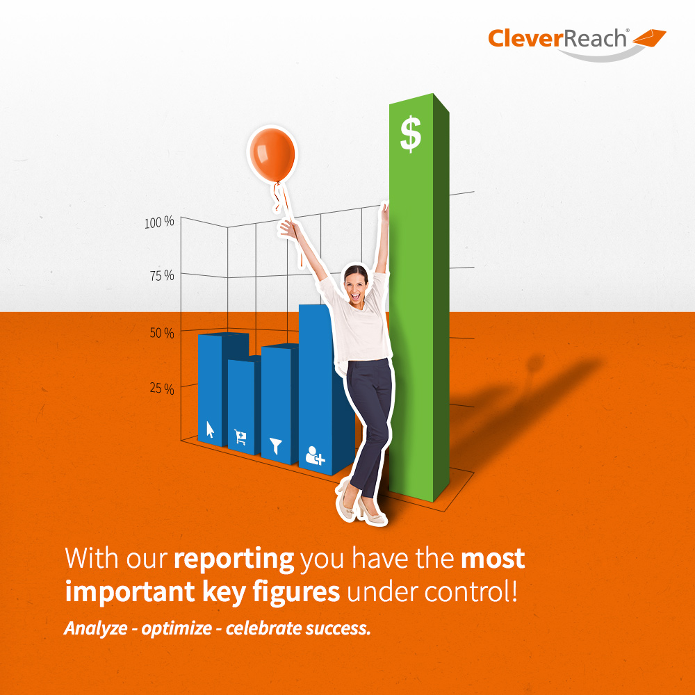 connect typo3 and cleverreach® - with our reporting you have the most important key figures under control