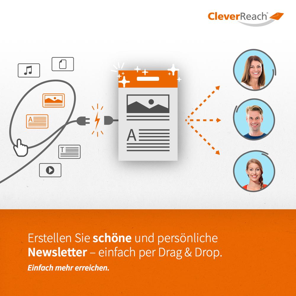 wordpress mit cleverreach® verbinden - erstellen sie persönliche und verkaufsstarke newsletter mit drag & drop editor erstellen