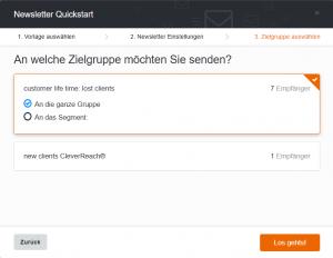 Quickstart 3 - Zielgruppe - CleverReach®