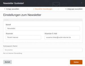 CleverReach® Schnellstart 2 Newsletter Einstellungen