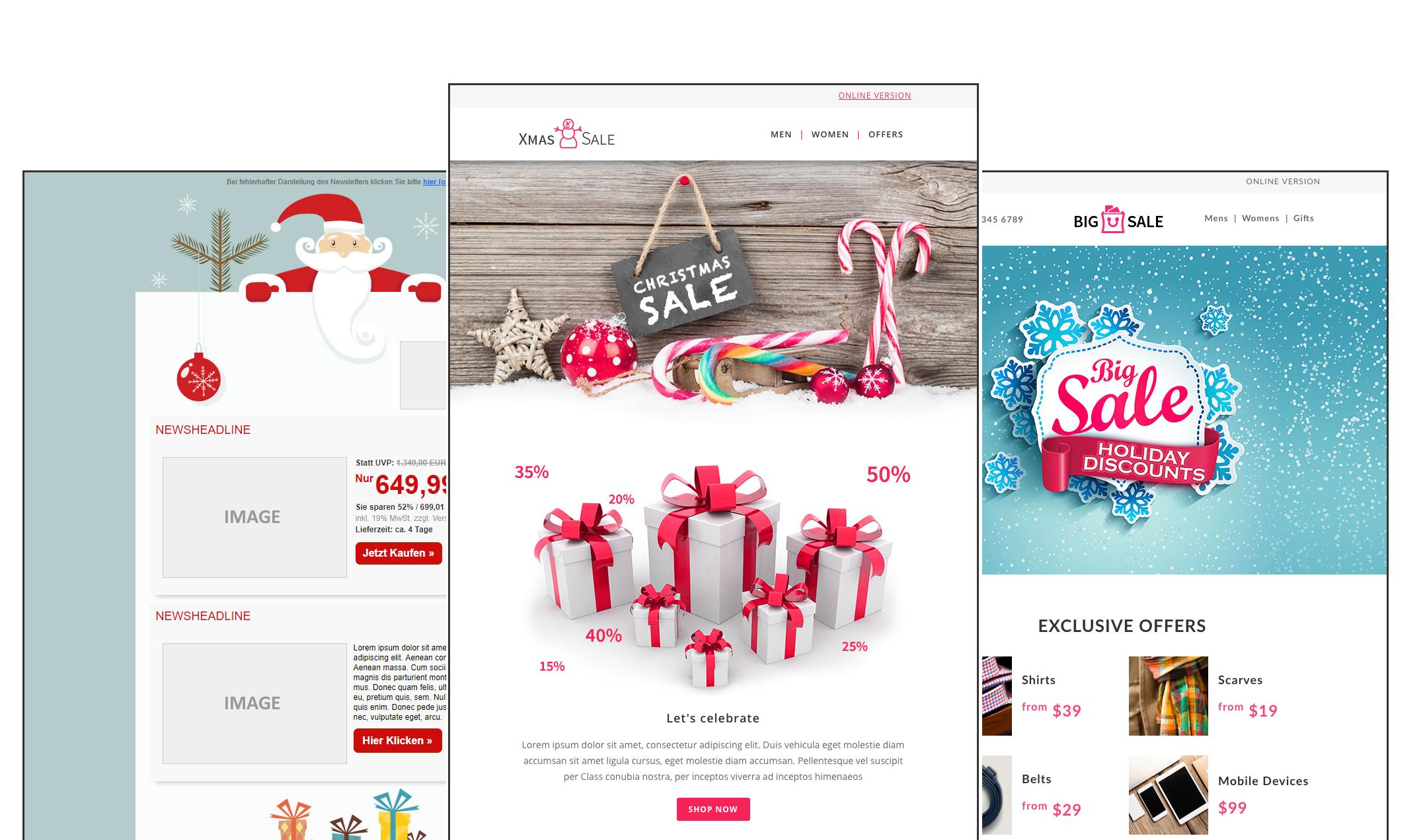 cleverreach_anlassbezogene_vorlagen_Newsletter_Weihnachts-templates
