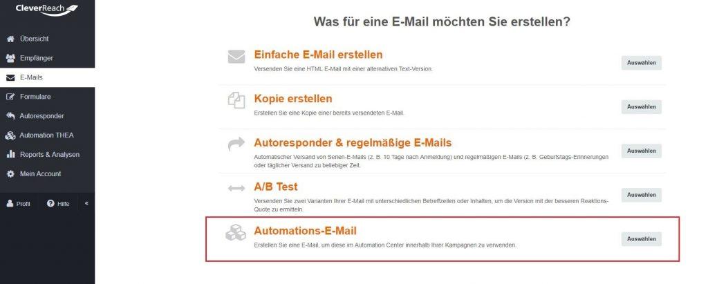 screenshot_cleverreach_dashboard_neue_email_erstellen_automation