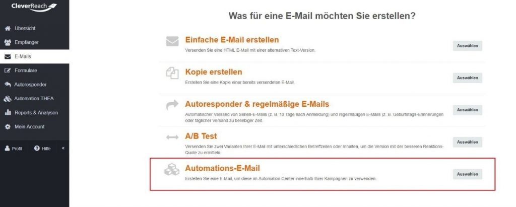 cleverreach_screenshot_wordpress_automations-email_erstellen
