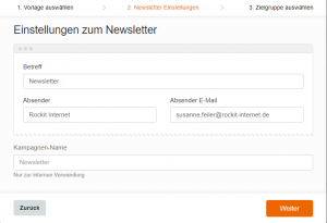 Einstellungen WordPress Newsletter erstellen - CleverReach®