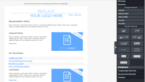 Drag&Drop Editor rechte Seite CleverRreach®