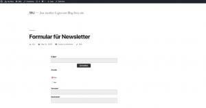 WordPress Anmeldeformular Ansicht - CleverReach®