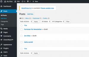 WordPress Einbindung Anmeldeformular - CleverReach®