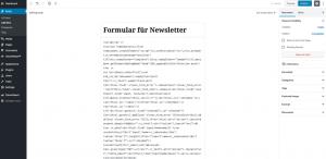 WordPress Anmeldeformular als Post einbinden - CleverReach®