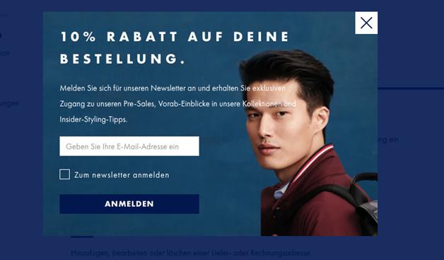 Pop Up - Adressgewinnung E-Mail Marketing - CleverReach®