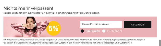 Newsletter-Anmeldung im Footer - E-Mail Marketing - CleverReach®
