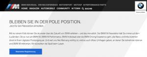 E-Mail Newsletter Adressgewinnung - Corporate Magazin als Kundenbindungstool BMW- CleverReach®