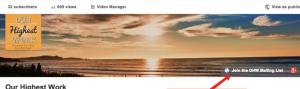 E-Mail Newsletter Marketing: Adressen gewinnen mit YouTube Beispiel CTA Button- CleverReach®