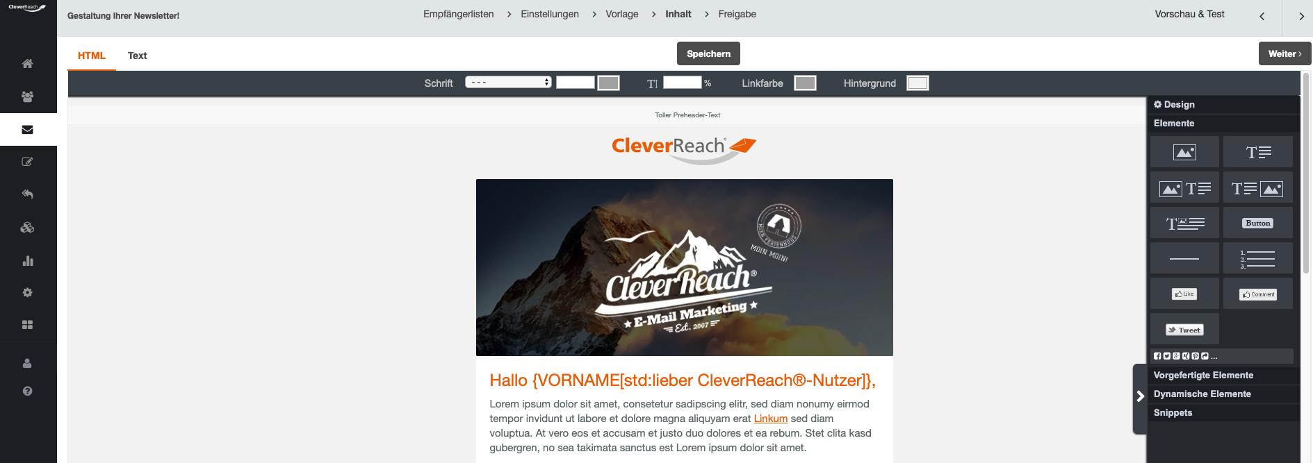kostenlose Newslettervorlagen - Newsletter gestalten - CleverReach®