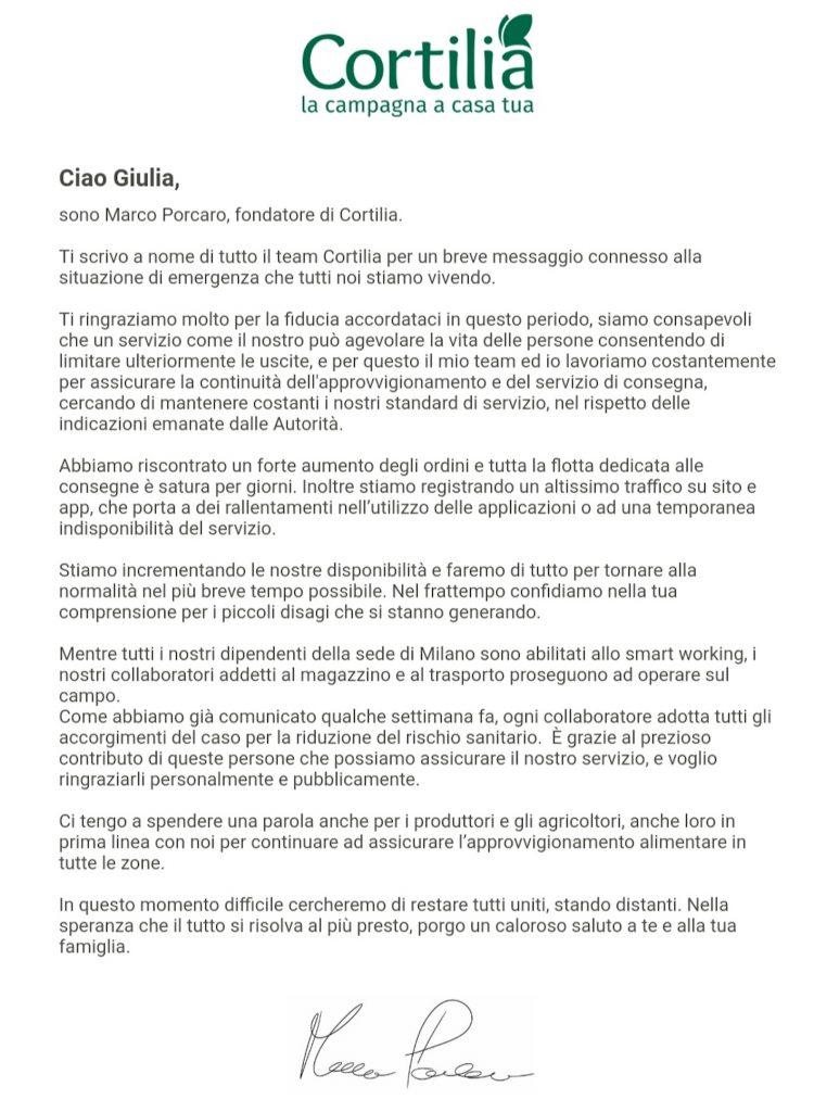 cortilia misure emergenza covid19
