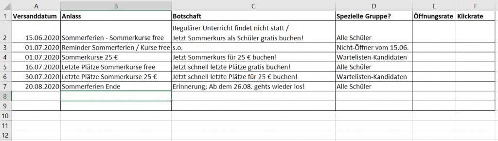 Beispiel_versandplan_musikschule_cleverreach_email-marketing-strategie-guide