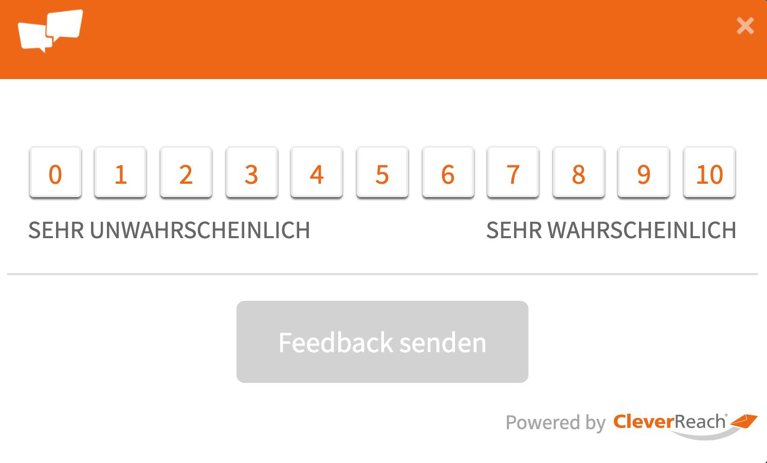 NPS-Score von 0 bis 10 der NPS Umfrage von CleverReach®_2
