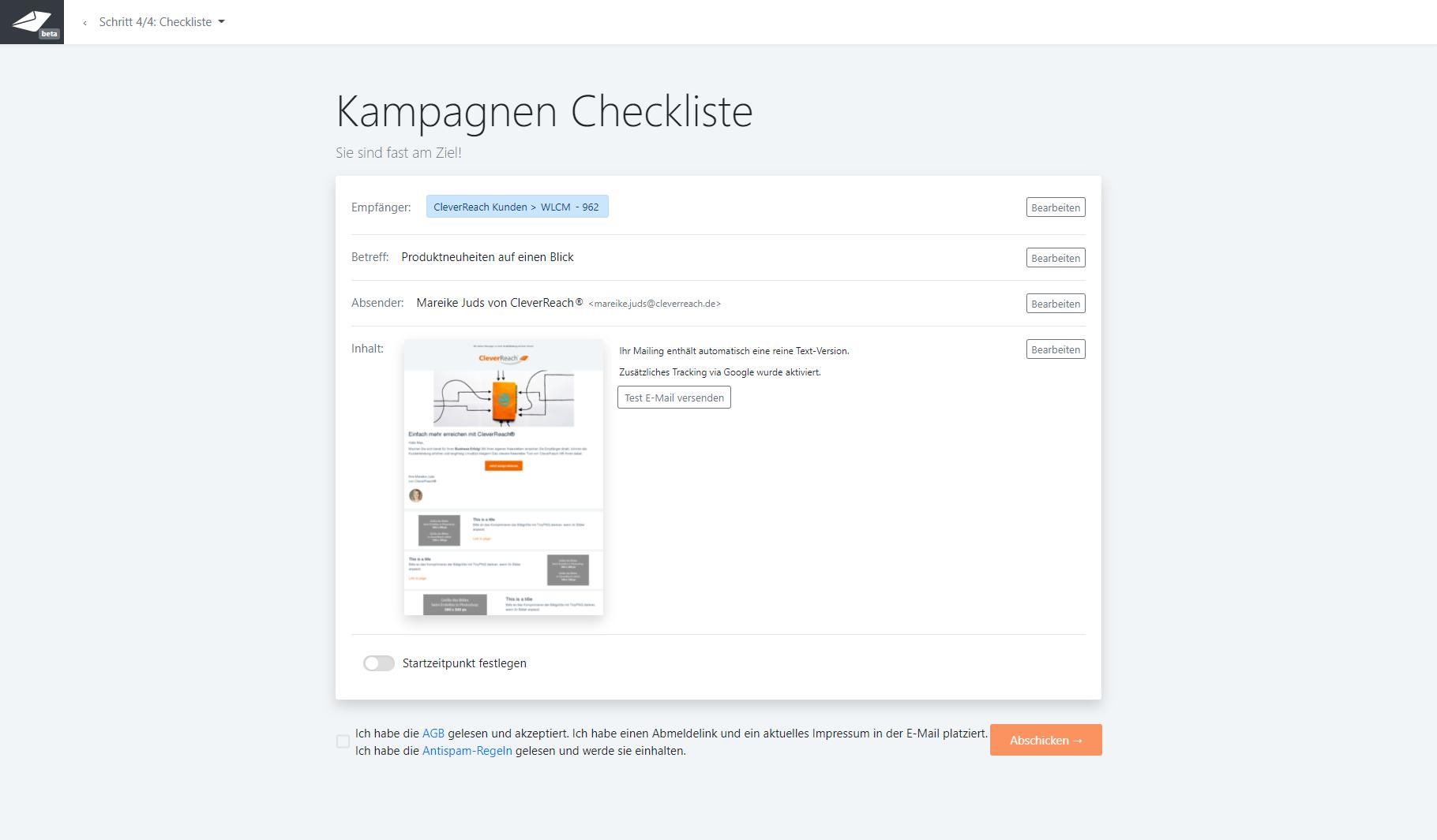 cleverreach-screenshot-newsletter-editor-email-erstellung-prozess-checklist